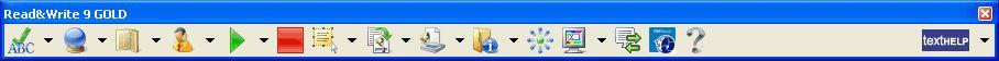 TextHelp toolbar